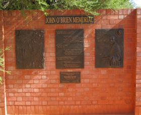 John OBrien Commemorative Wall - Port Augusta Accommodation