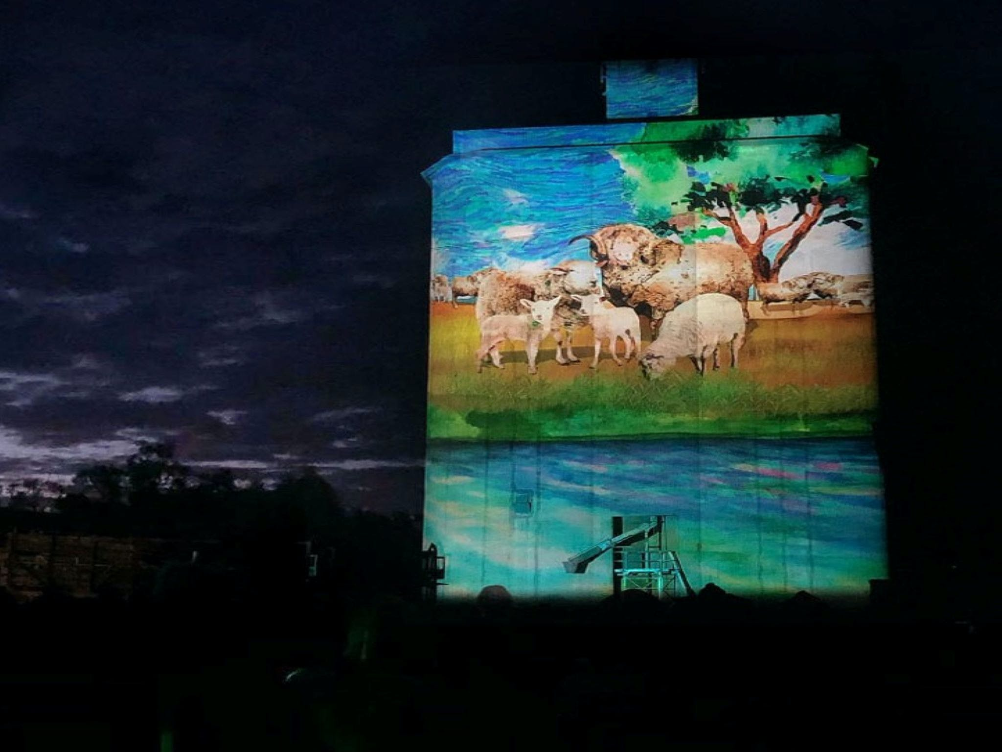 Quorn Silo Light Show - Port Augusta Accommodation
