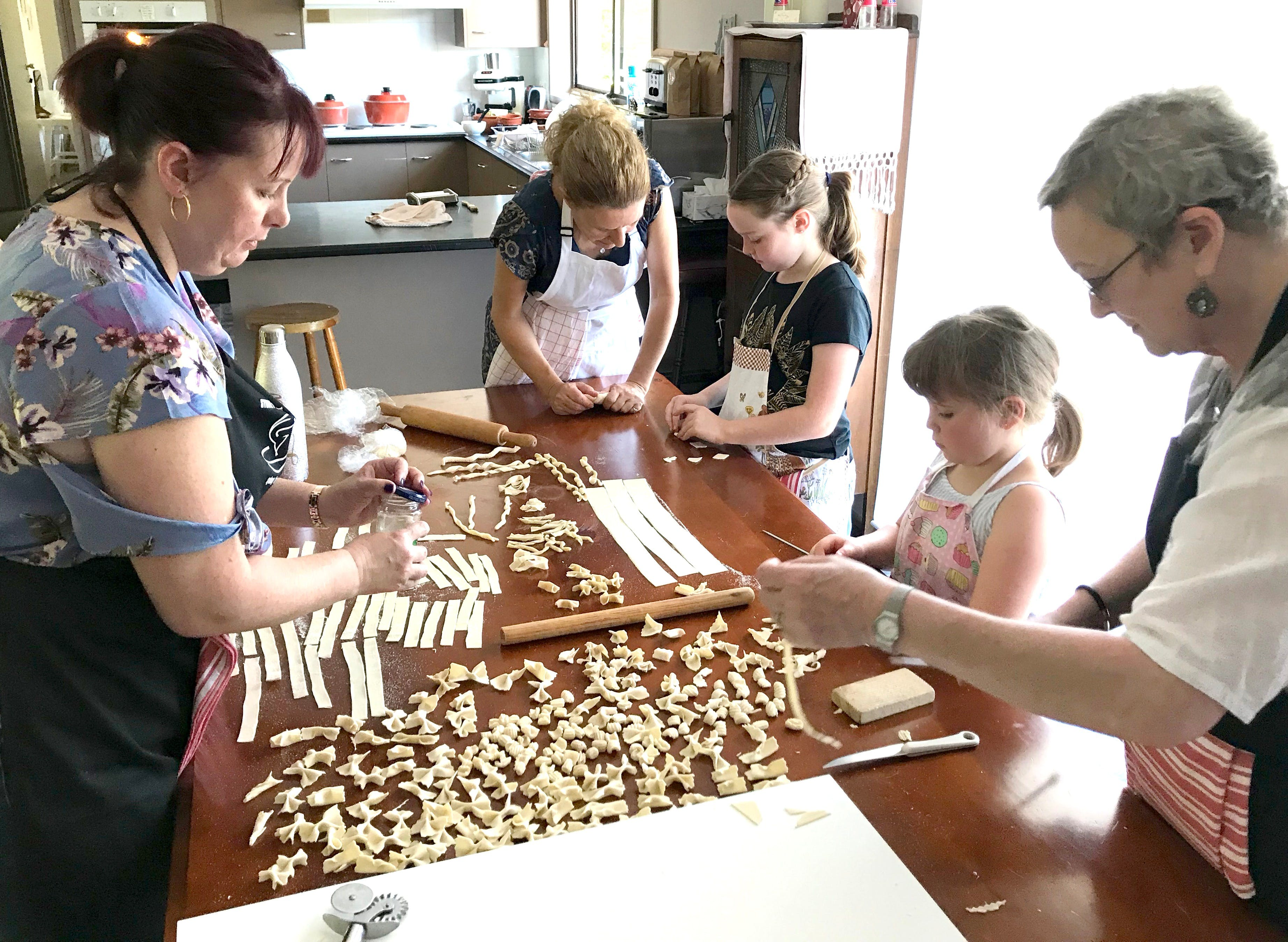 Kids Pasta Making Class - hands on fun at your house - Port Augusta Accommodation