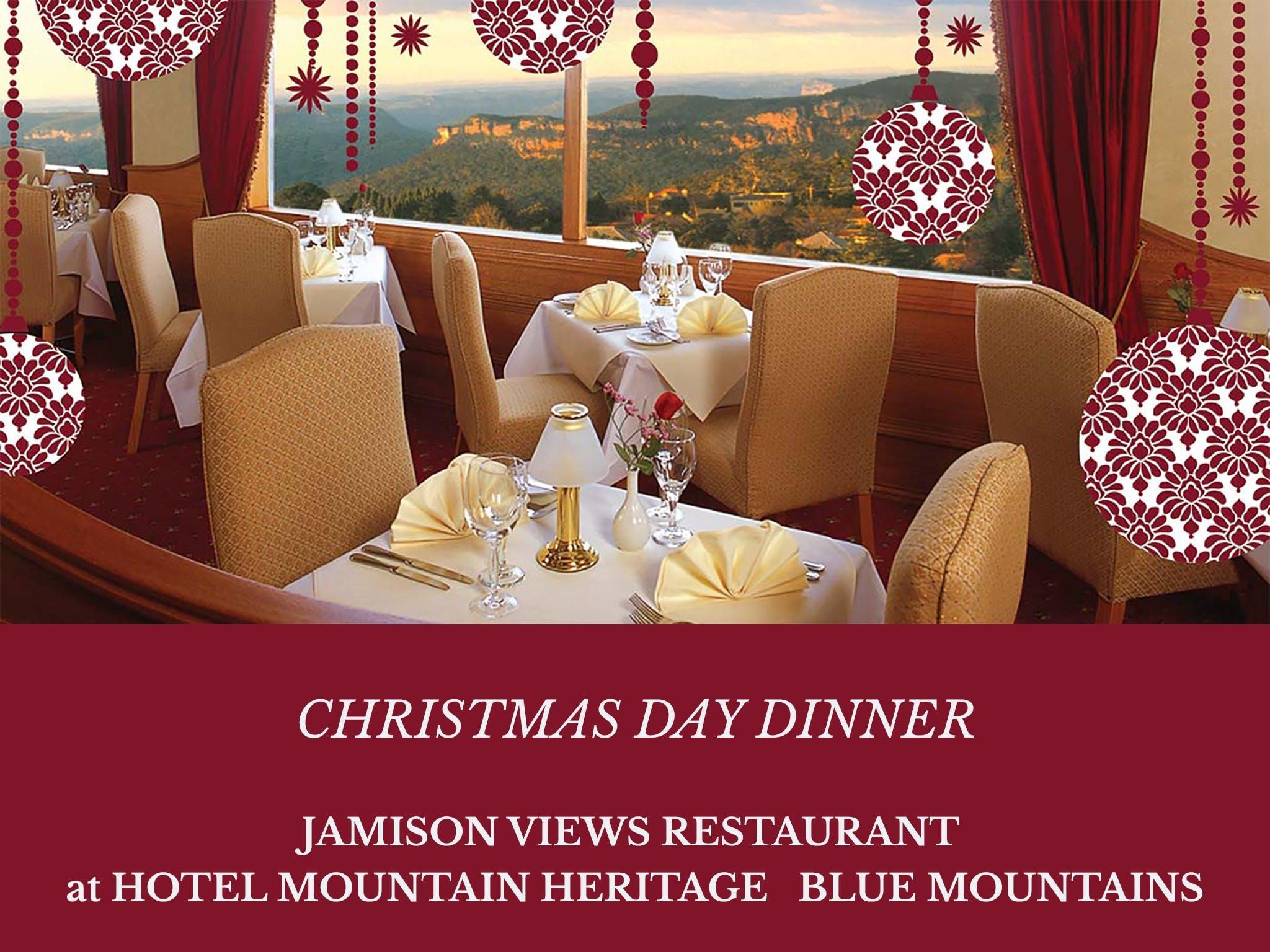 Christmas Day Dinner Hotel Mountain Heritage - Port Augusta Accommodation